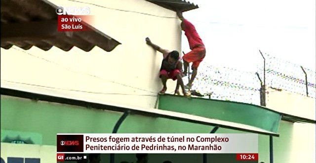 Tentativa de fuga de presos em Pedrinhas é transmitida ao vivo pela Globo News