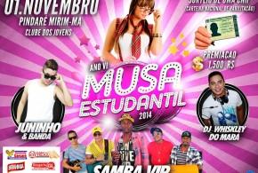 Escolha da Musa Estudantil 2014 acontece dia 1º de novembro em Pindaré – Mirim