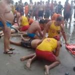 acidente raio praia