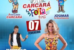 Neste sábado tem Monique Pessoa e Juninho e Banda no 'Carcará Folia' na Praça de Pindaré – Mirim