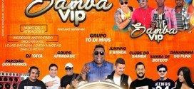 Grande evento marcará os três anos do Grupo Samba Vip, em Pindaré Mirim