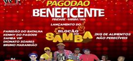 Dia 11 de dezembro acontece o Pagodão Beneficente com 5 atrações