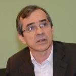Secretário de Estado da Saúde, Marcos Pacheco, durante entrevista recente sobre o seletivo público. Foto: Francisco Campos/SES