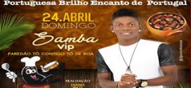 Dia 24 de abril acontece feijoada beneficente com o grupo Samba Vip em Pindaré