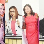 Vereadoras eleitas em Pindaré Mirim. Dir. para esq.: Caçula Muniz (PCdoB), Judite Maria (PMDB), Prof.ª Silvia (PDT) e Bobó (PSB).