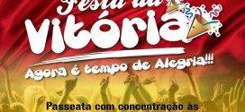 Hoje acontece a Festa da Vitória do prefeito eleito de Pindaré Mirim
