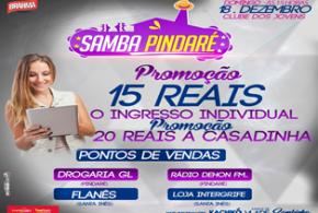 Dia 18 de dezembro acontece a festa 'Samba Pindaré'