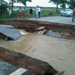 estrada cortada