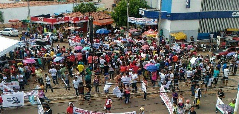 Paralisação Nacional - Santa Inês. Foto: Magno Lima