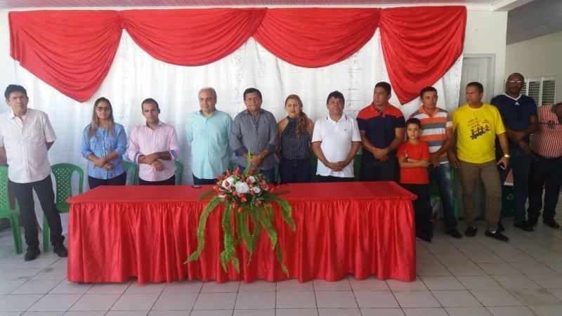 Inauguracao - Escola Reinaldo Cordeiro de Lima - Mesa de Honra