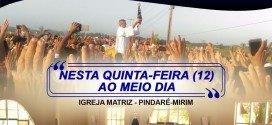 Pindaré: Paróquia São Pedro Apóstolo convida fiéis para Missa em Honra a Nossa Senhora Aparecida