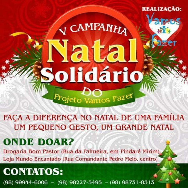5 campanha natal solidario