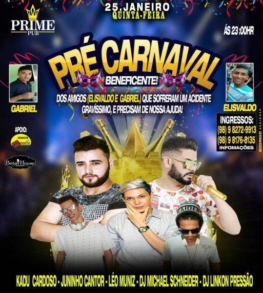 pre carnaval beneficente