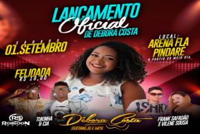 Festa de lançamento oficial da cantora pindareense Débora Costa já tem data marcada