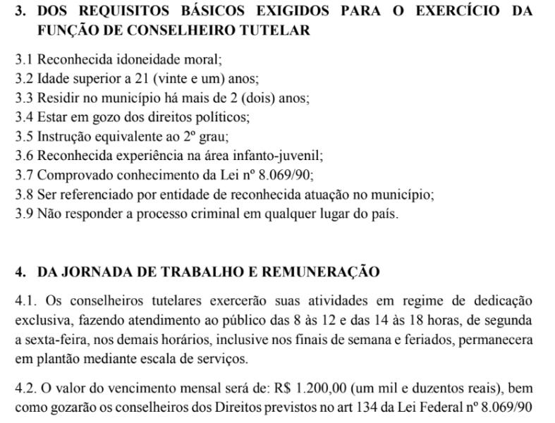 requisitos e remuneraCAo