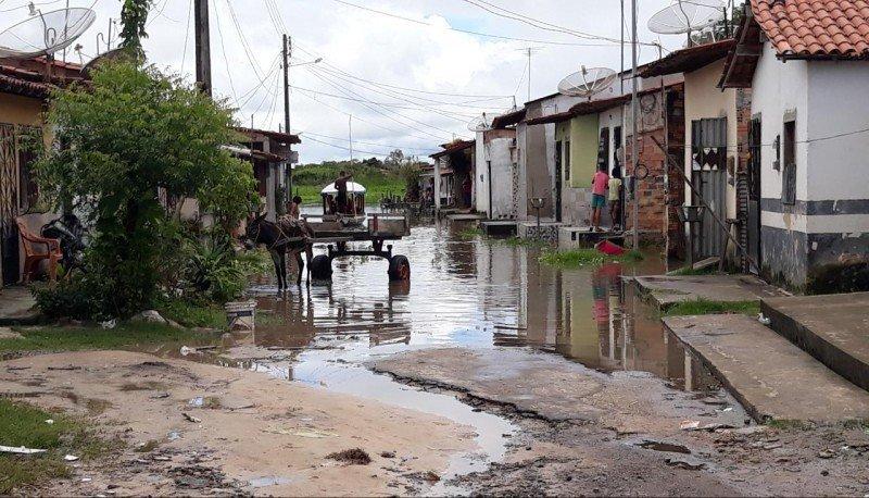 Situação da Rua da Telma no centro de Pindaré. Foto: William Junior/Portal Pindaré
