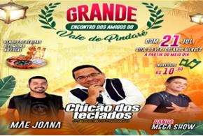 Dia 21 de julho acontece o Grande Encontro dos Amigos do Vale do Pindaré com música ao vivo