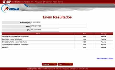 Divulgado Os Resultados Individuais Do Enem 2016 Portal